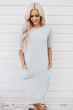 The Mekenna Dress: Sea Foam