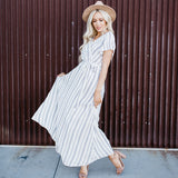 Faux Wrap Maxi Dress: Ivory Geometric Print
