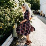 The Carlee Swing Dress: Red Stripe
