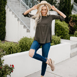 The Weslie Top: Olive