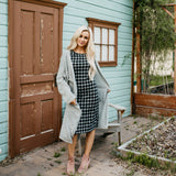 Plaid Tee Dress: Black/White