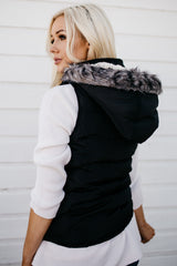 Double Zipper Luxe Vest: Black