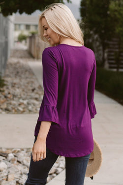 The Weslie Top: Plum