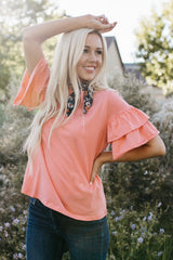 The Kassie Top: Coral