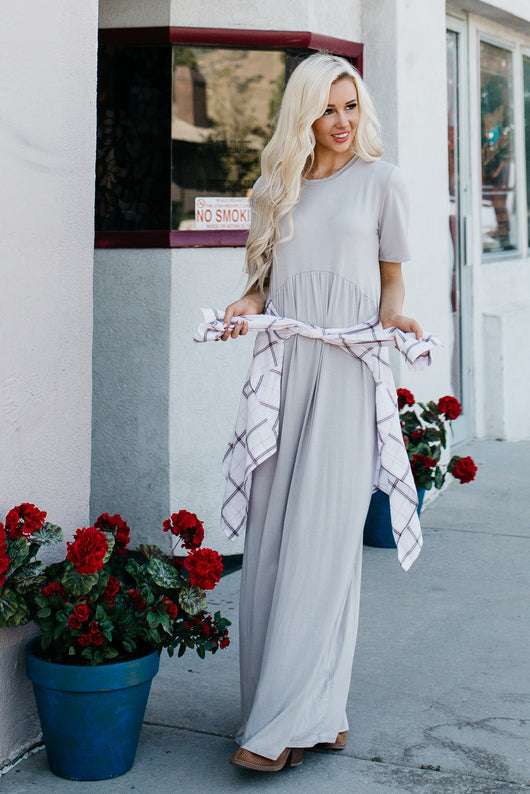 The Angie Maxi Dress: Gray