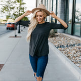 The Weslie Top: Charcoal
