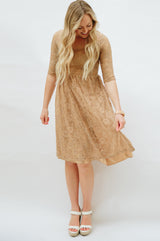 Sweetheart Lace Dress | Mocha
