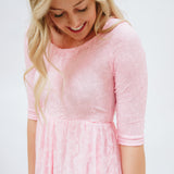 Sweetheart Lace Dress | Light Pink