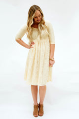 Sweetheart Lace Dress | Cream