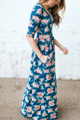 The Dusti Maxi Dress | Blue Floral