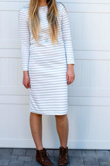 Long Sleeve Everyday Dress: Ivory