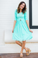 Sweetheart Lace Dress | Aqua