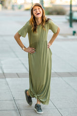 The Angie Maxi Dress: Olive