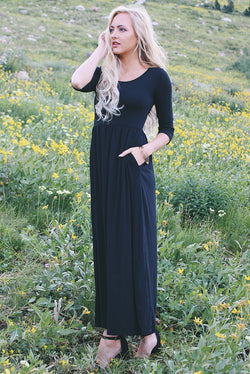 The Dusti Maxi Dress | Black