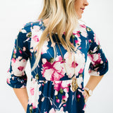 The Alli Dress: Navy Floral