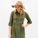 The Alli Dress: Olive
