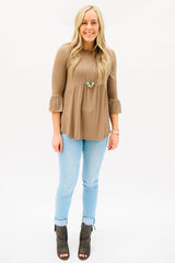 The Weslie Top: Mocha
