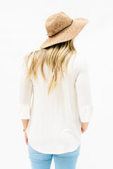 The Weslie Top: Ivory