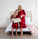 Mommy and Me Holiday House Dress: Girls' Buffalo Plaid