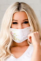 Reusable Protective Face Masks: Floral