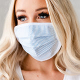 Reusable Protective Face Masks: Blue Stripe