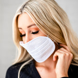 Reusable Protective Face Masks: Textured White