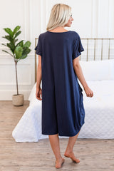 The Sophie House Dress: Navy