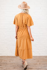 The Lucy Dress: Rust Dot