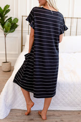 House Dress: Black with White Stripe