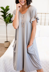 The Sophie House Dress: Gray