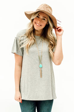 The Penelope Top: Light Gray
