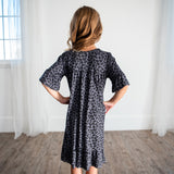 Noel House Dress (Girls' Sizes): Leopard