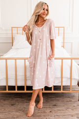 The Scottie House Dress: Pink Dot