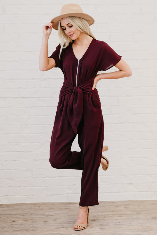 The Dillon Jumpsuit: Deep Plum