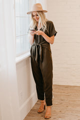 The Dillon Jumpsuit: Olive