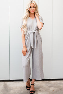 The Rosie Jumpsuit: Gray