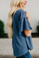 The Laynie Top: Blue