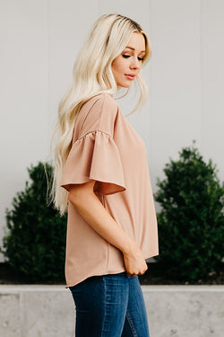 The Laynie Top: Caramel