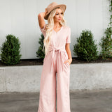 The Rosie Jumpsuit: Blush