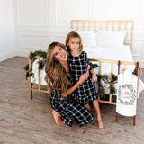 Noel House Dress: Black Plaid