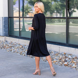 The Lizzie Swing Dress: Black