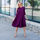 The Lizzie Swing Dress: Plum