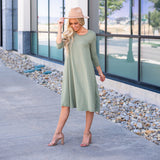 The Lizzie Swing Dress: Olive