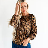 The Chloe Top: Leopard