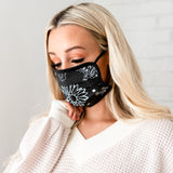 Reusable Protective Face Masks: Black Bandana