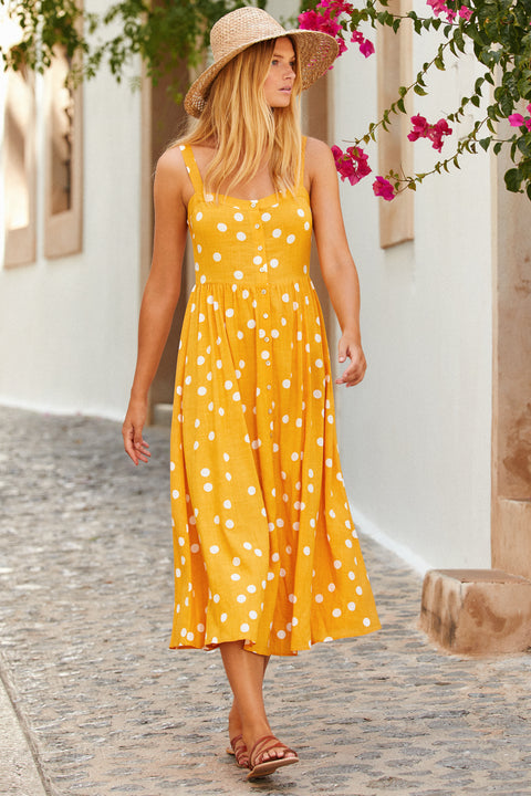 Ruby Dress In Buttercup Spot