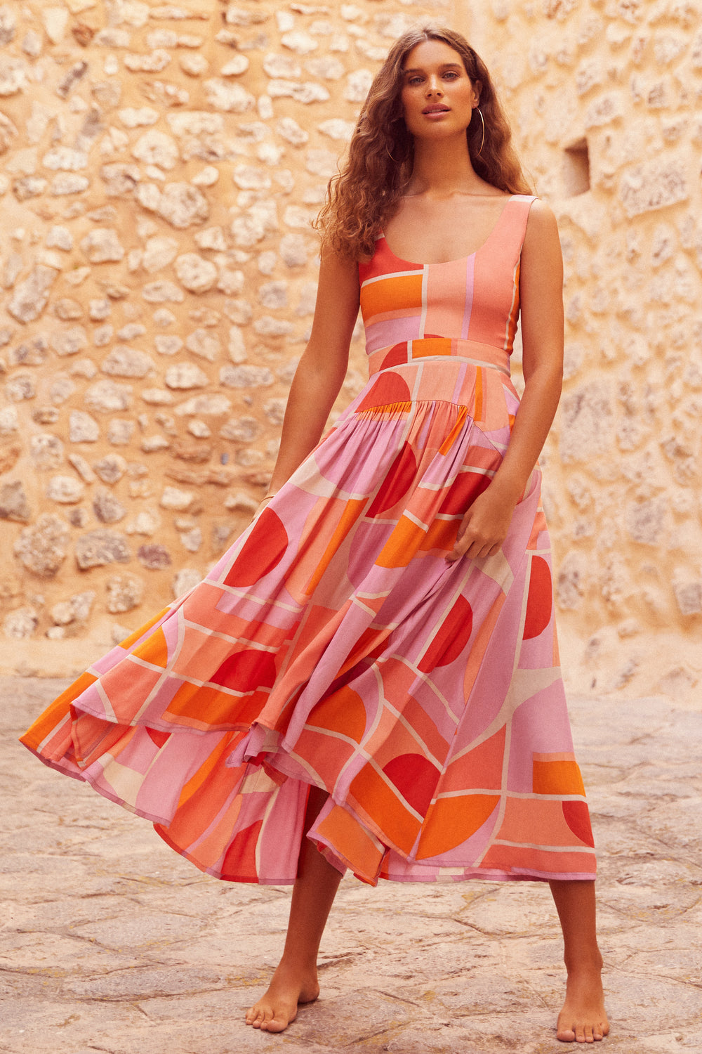 Annabelle Dress In Sunset