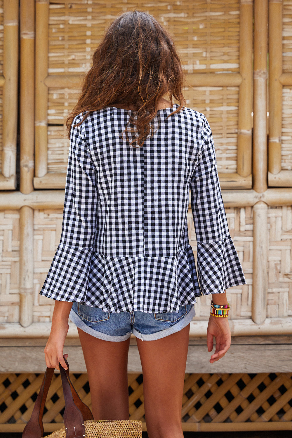 Rio Top In Black Gingham