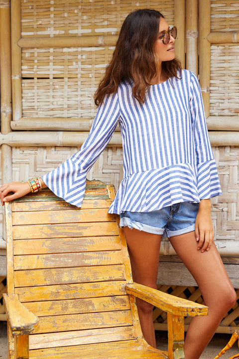 Rio Top In Blue Stripe