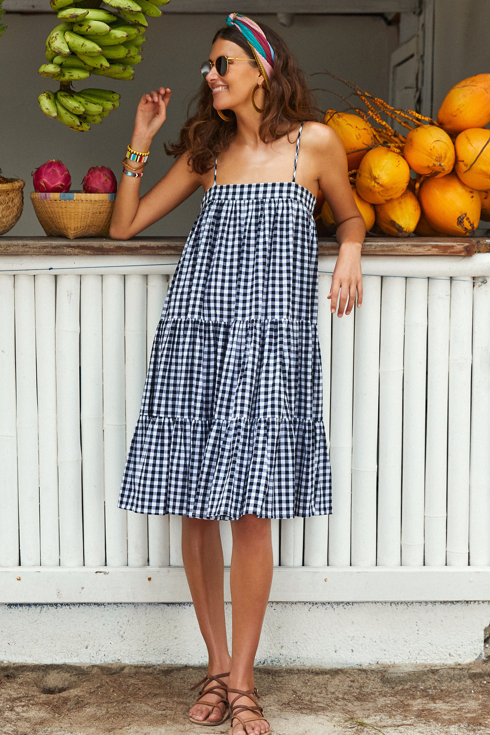 Sara Dress In Black Gingham